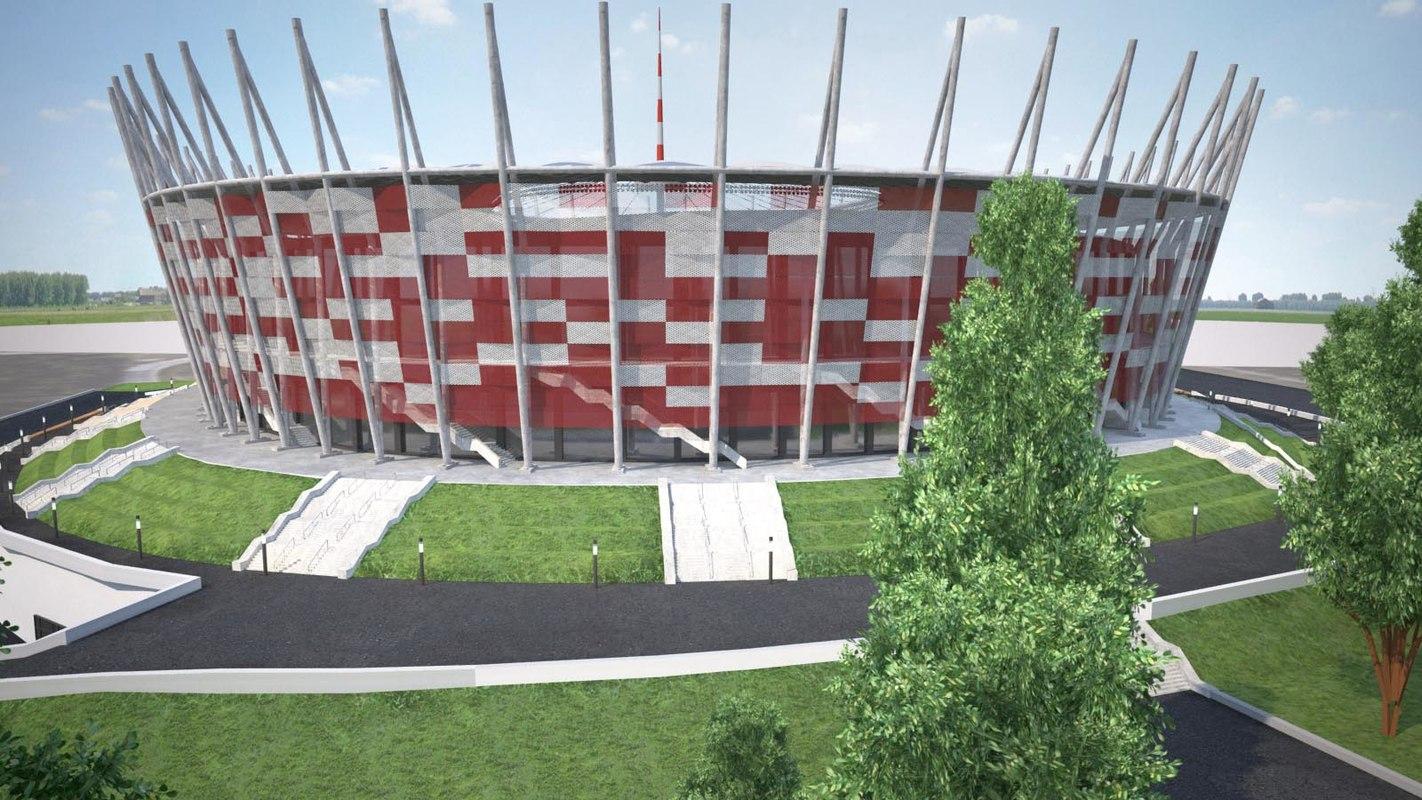 3D warsaw national stadium