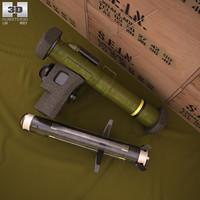 fgm-148 javelin fgm 3D model