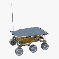 3D mars rover sojourner rigged
