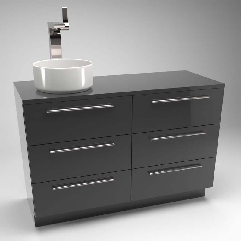 3D model sink counter