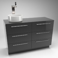 Sink with counter