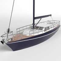 sail sailboat 3D model