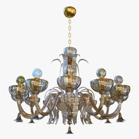 chandeliers sylcom foscari 1521 3D model