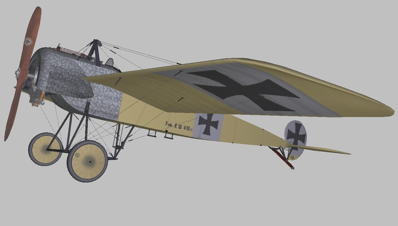 fokker e3 3D model