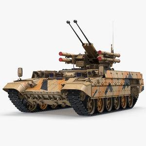 missile tank bmpt rigged 3D model