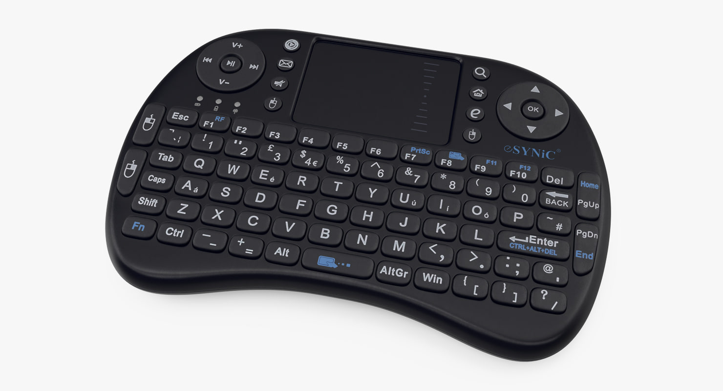 96f3860f51a Modello 3D Mini tastiera wireless portatile ESYNIC - TurboSquid 1157702