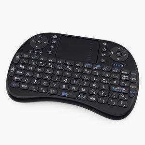 3D portable mini wireless keyboard