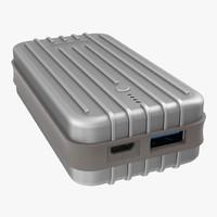 3D model portable power bank