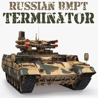 Russian Armored Fighting Vehicle BMPT 3D Model
