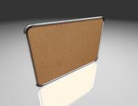 cork board 3D model