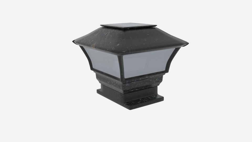solar panel lamp cap 3D model