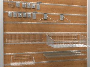 slatwall accessories model