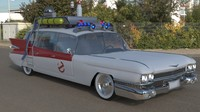 Ghostbusters, 3d Car Model, Ecto-1, Ectomobile,