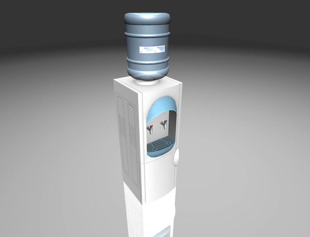 3D water cooler model