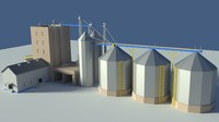 Low Poly Cartoony Feed Plant