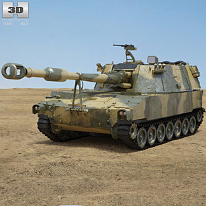 m109 howitzer m 3D model