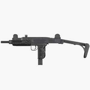 3D model submachine gun uzi smg