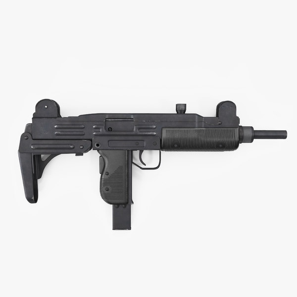 3D submachine gun uzi smg model