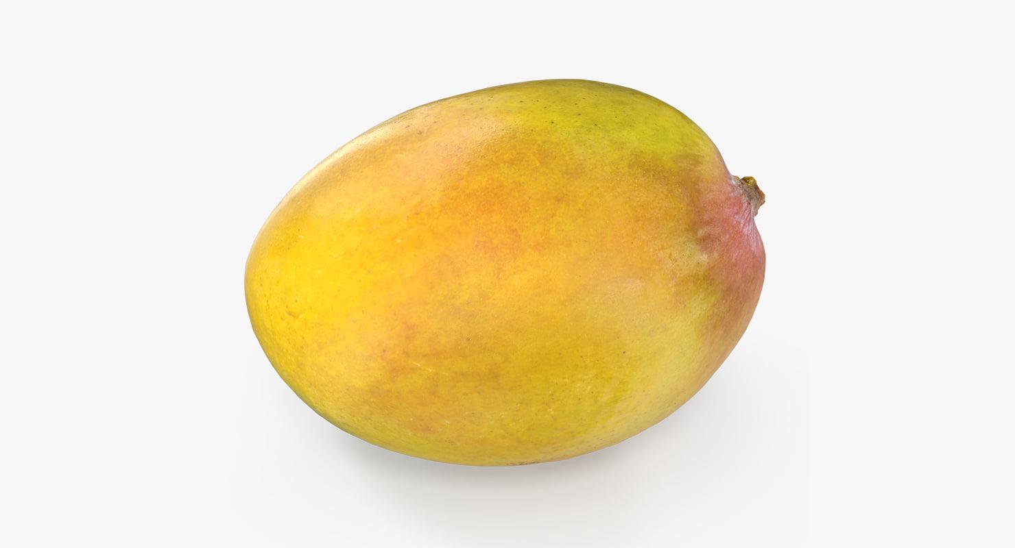 yellow mango fruit 3D model