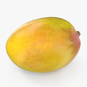 yellow mango fruit 3D model