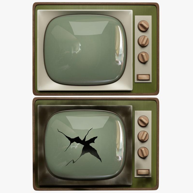 broken tv 3D model