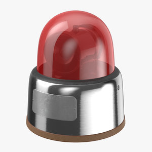 3D car light 70s red model