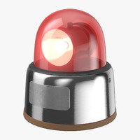 3D car light 70s red