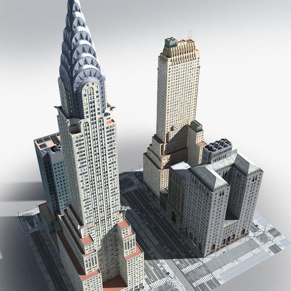 3D model new york manhattan lexington