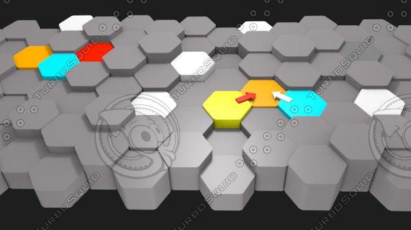 hexagon process mapping 3D model