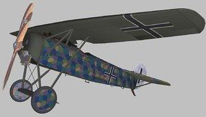 fokker d8 3D model
