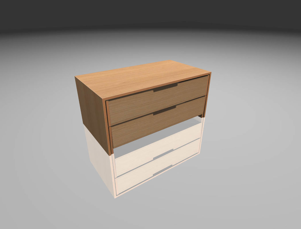 wood cabinet 3D model