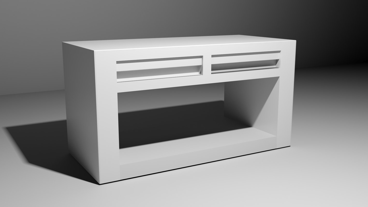 3D model white drawer