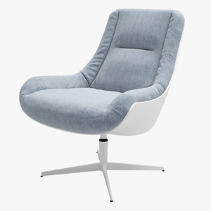 3D armchair sits lovebird