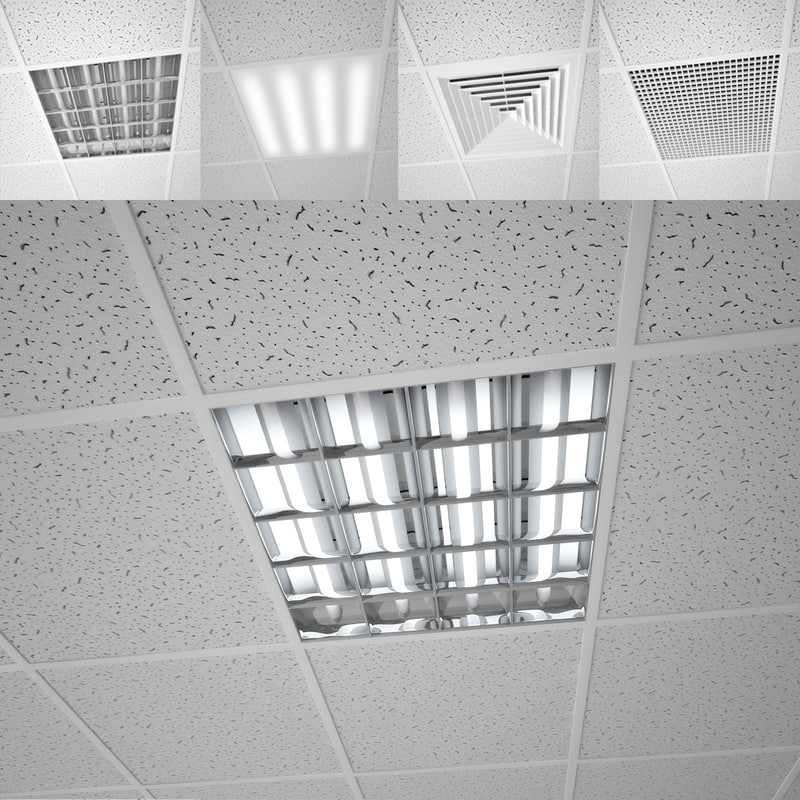 3D model modular ceiling
