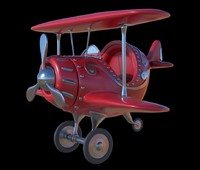 3D stylized cartoon plane