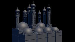 ramadan mosque 3D model