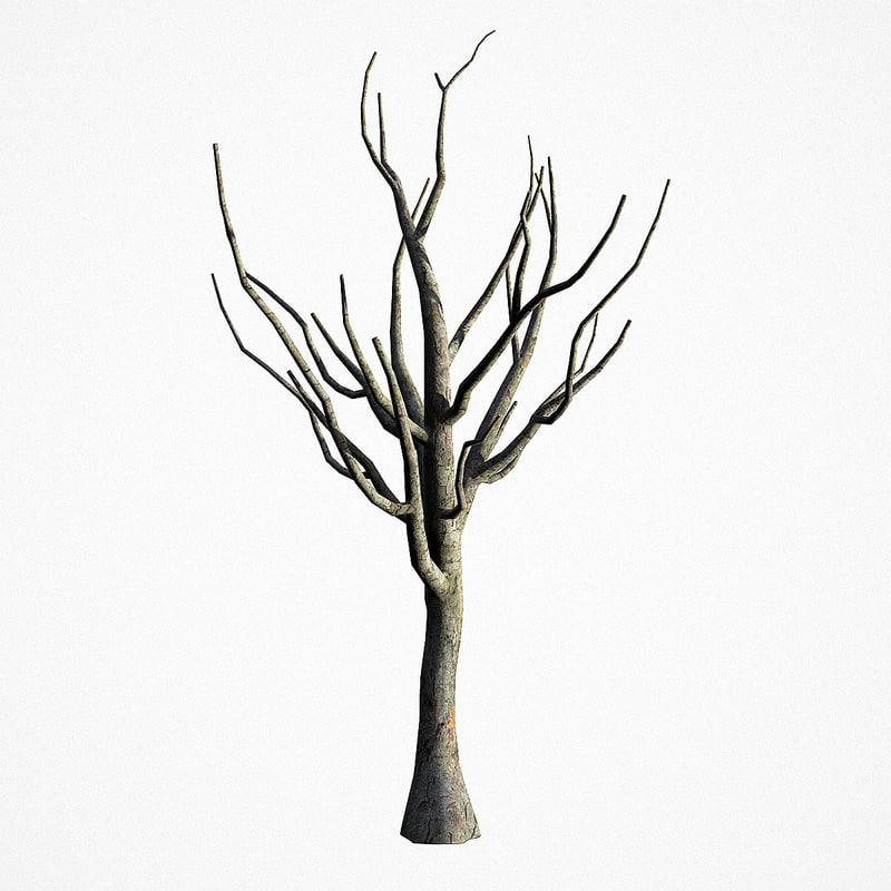 3D old tree 02 model