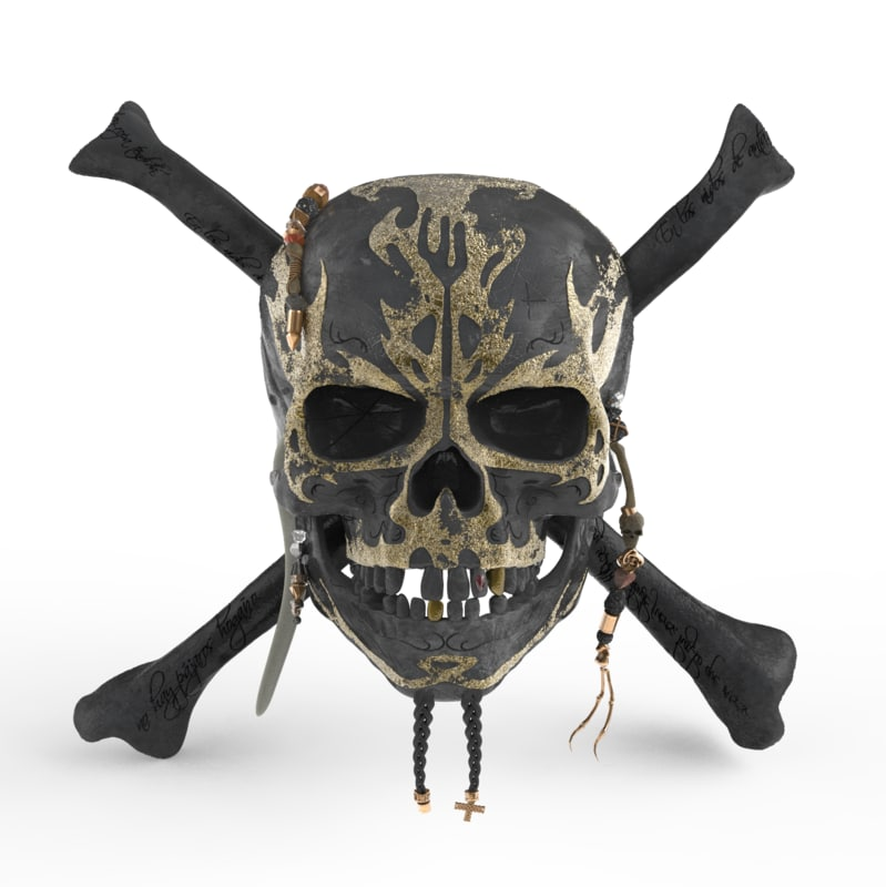 3D pirates caribbean skull model