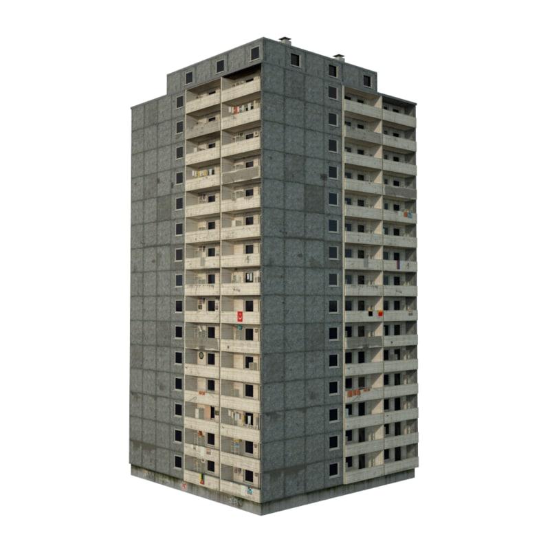 3D panel building
