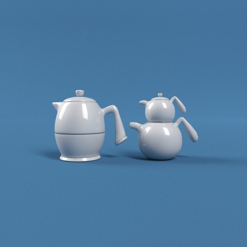 kettle cartoon 3D model