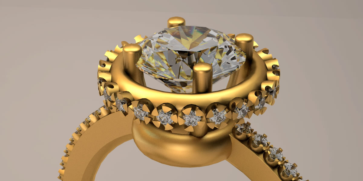 wedding ring clear ready 3D model