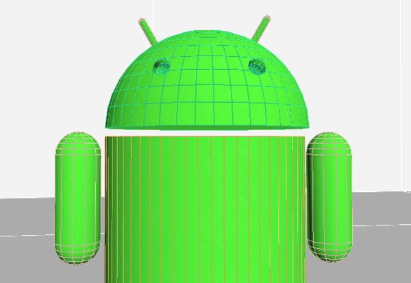 3D android logo robot model