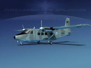 3D aircraft harbin y-12 ii model