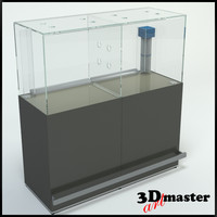 3D fish aquarium supermarket model
