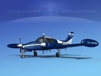 3D cockpit cessna u-3b