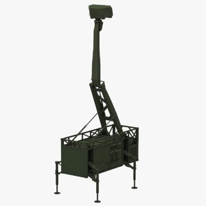 giraffe amb radar 3D model