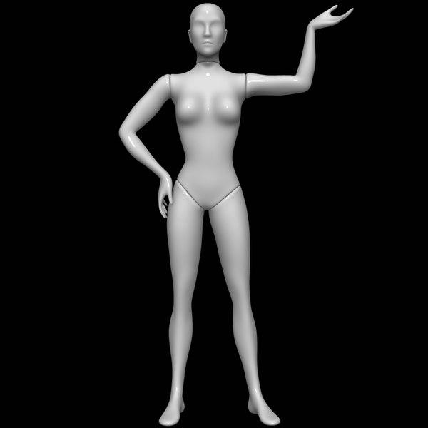 3D mannequin female model