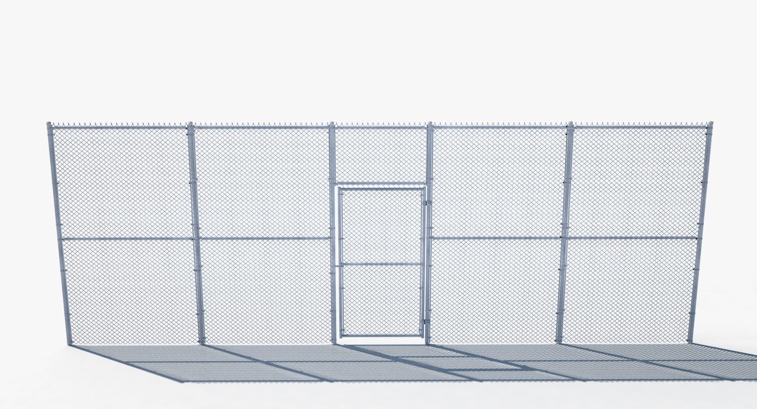 Metal chain fence gate Double Chain Link Fence Gate 3d Model Facilaccesoclub Chain Link Fence Gate 3d Model Turbosquid 1157841