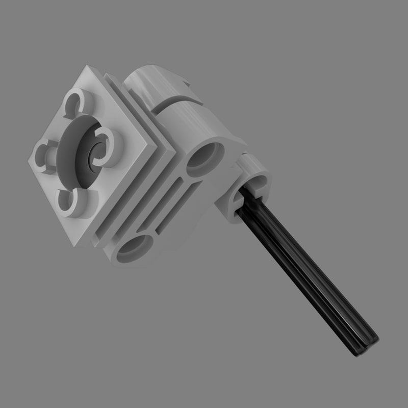 lego technic engine set 3D model