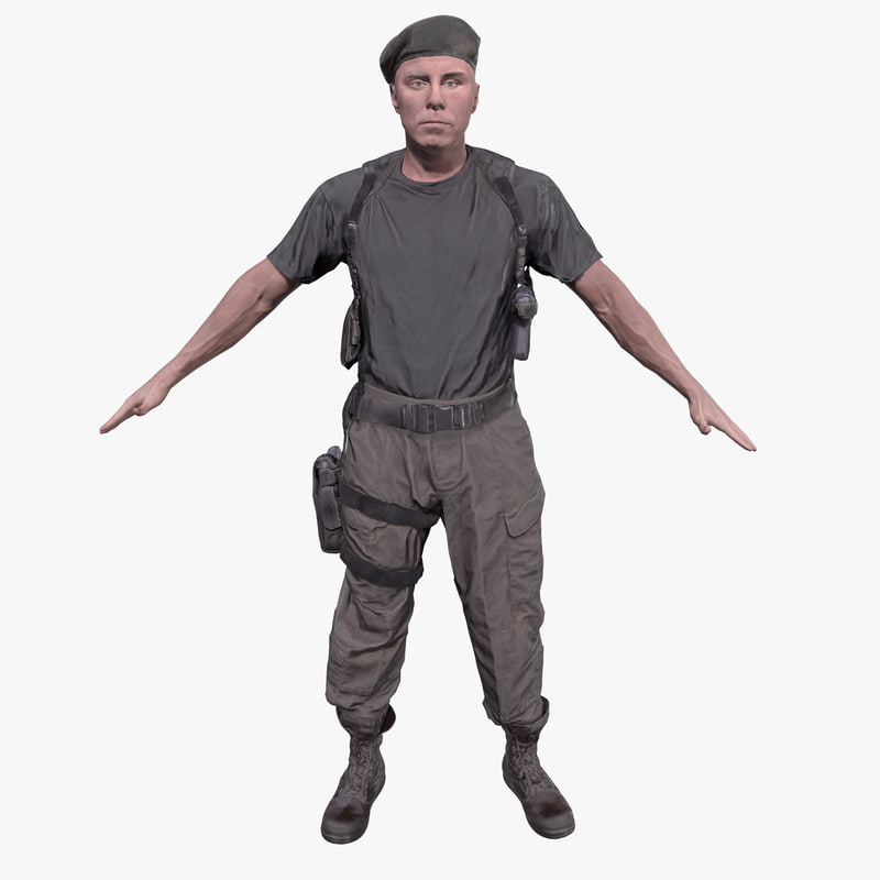 3D soldier pbr ready model